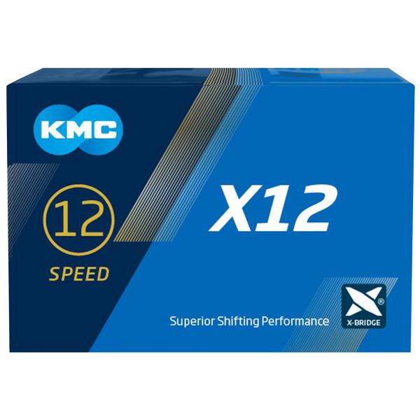 KMC X12 Silver/Black derailleur chain